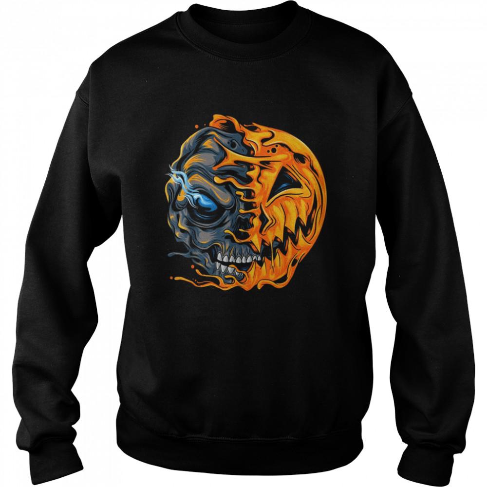 Boys Halloween pumpkin skull zombie shirt Unisex Sweatshirt