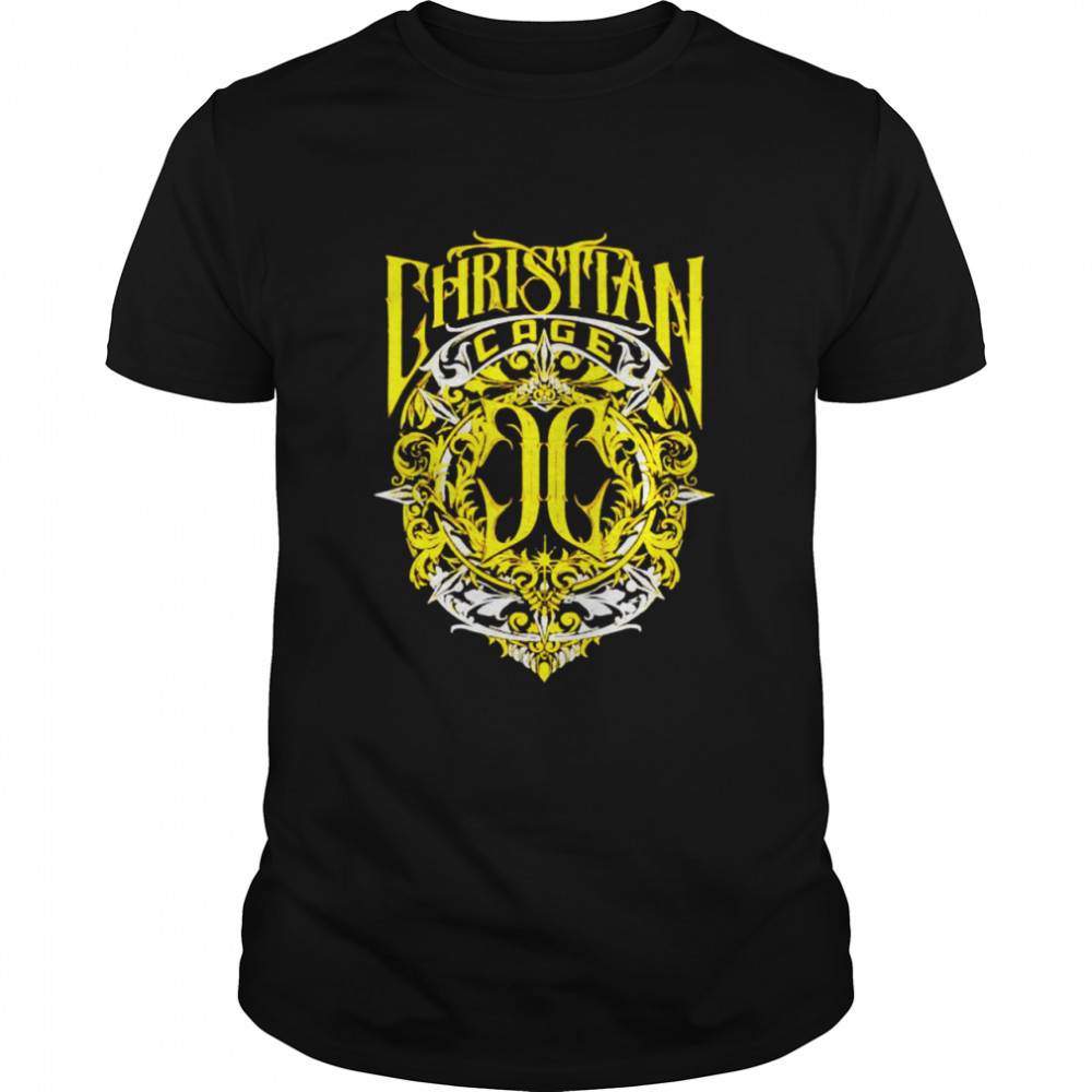 Christian Cage virtue gold shirt