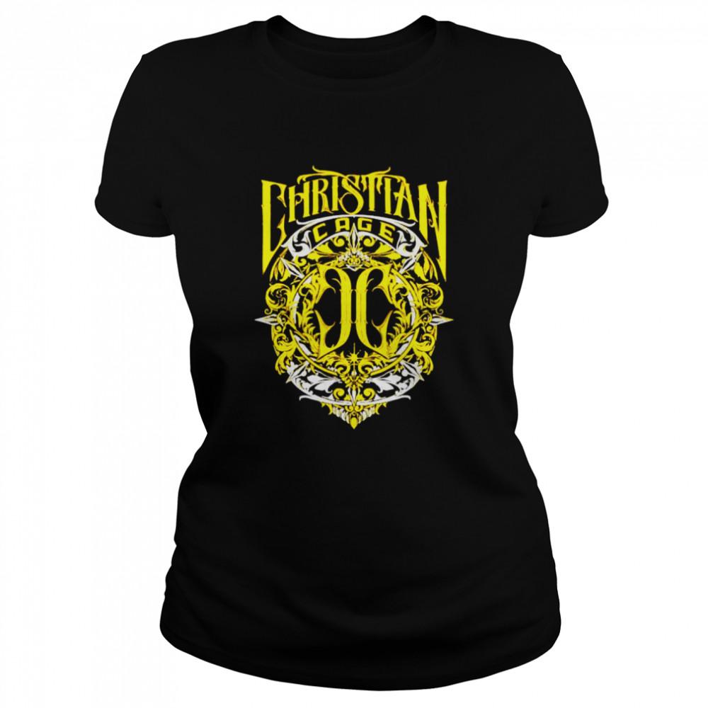 Christian Cage virtue gold shirt Classic Women's T-shirt