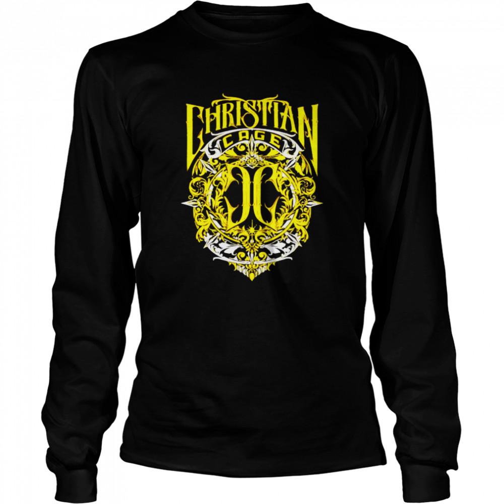 Christian Cage virtue gold shirt Long Sleeved T-shirt