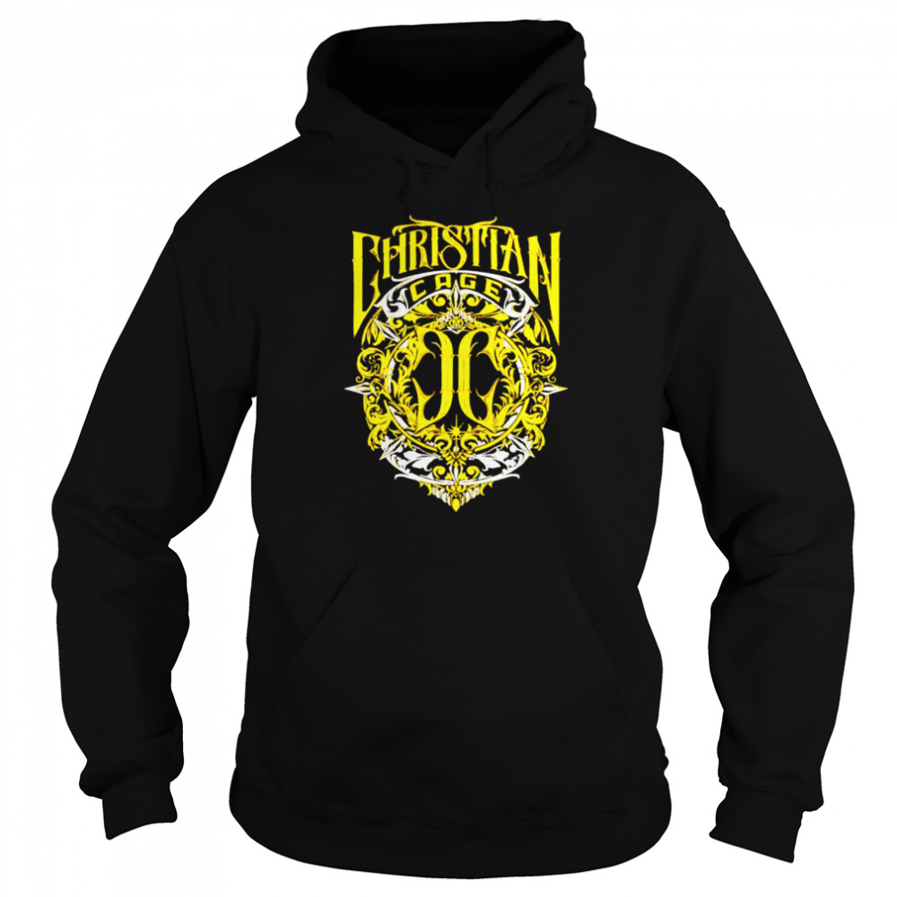 Christian Cage virtue gold shirt Unisex Hoodie