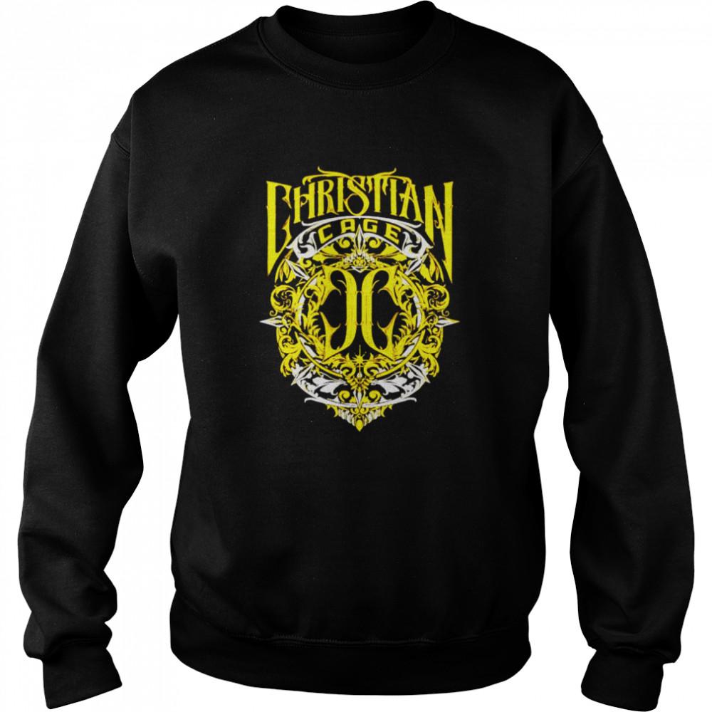 Christian Cage virtue gold shirt Unisex Sweatshirt