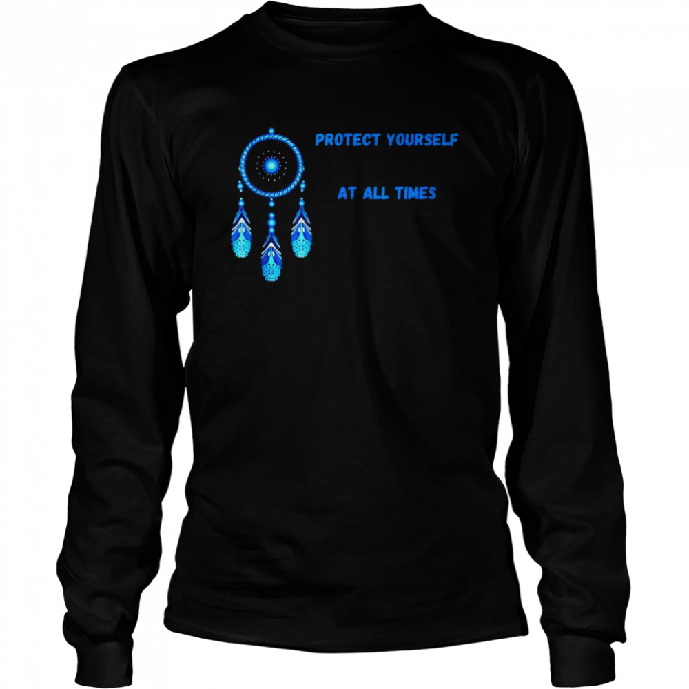 Dream Catcher Green Protect Yourself Times Native Feathers Sleep T-shirt Long Sleeved T-shirt