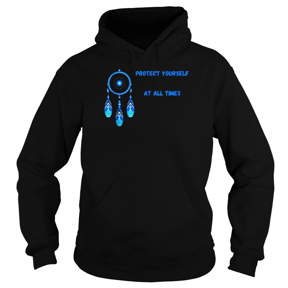 Dream Catcher Green Protect Yourself Times Native Feathers Sleep T-shirt Unisex Hoodie