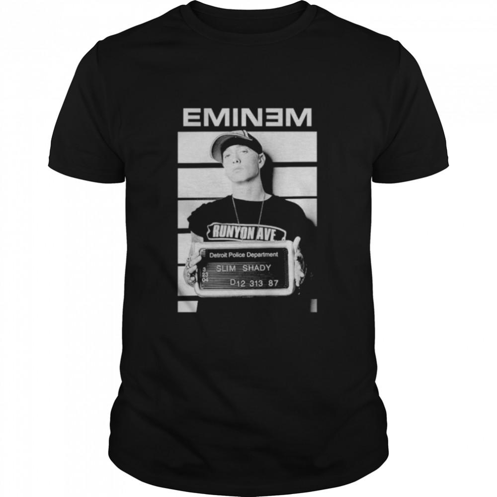 Eminem mugshot detroit police department shirt