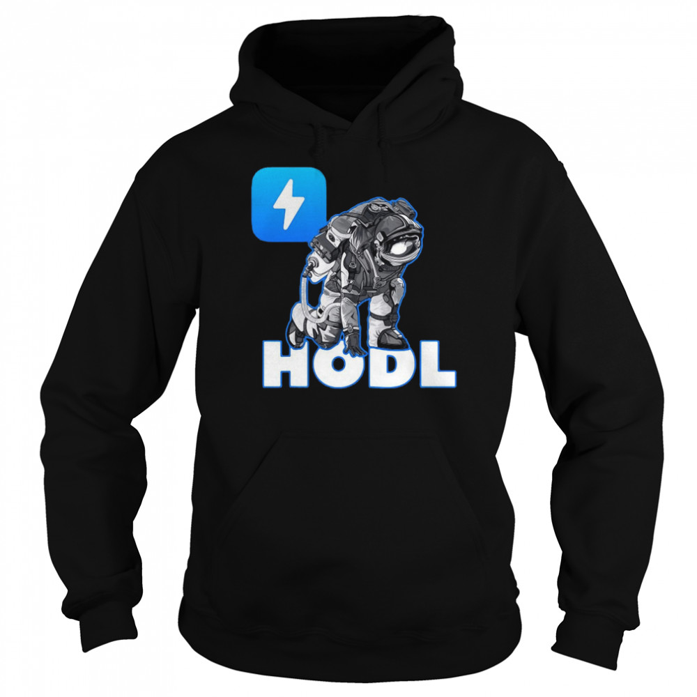 Hodl Zap Oracles Crypto Moon Man Astronaut Cryptocurrency T-shirt Unisex Hoodie