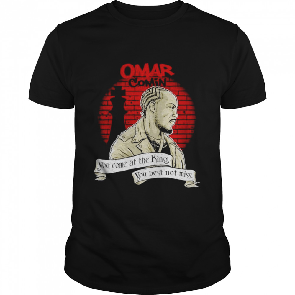 Michael K. Williams omar comin you come at the king shirt