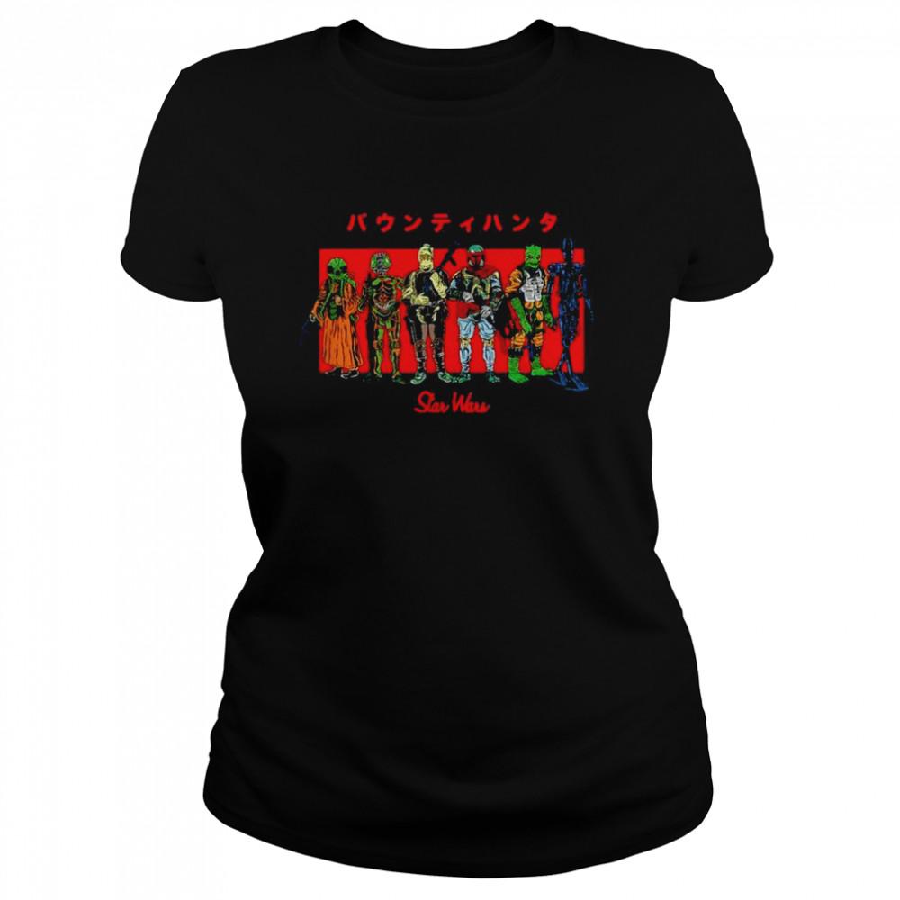 Star Wars Kanji Bounty Hunter Lineup T-shirt Classic Women's T-shirt