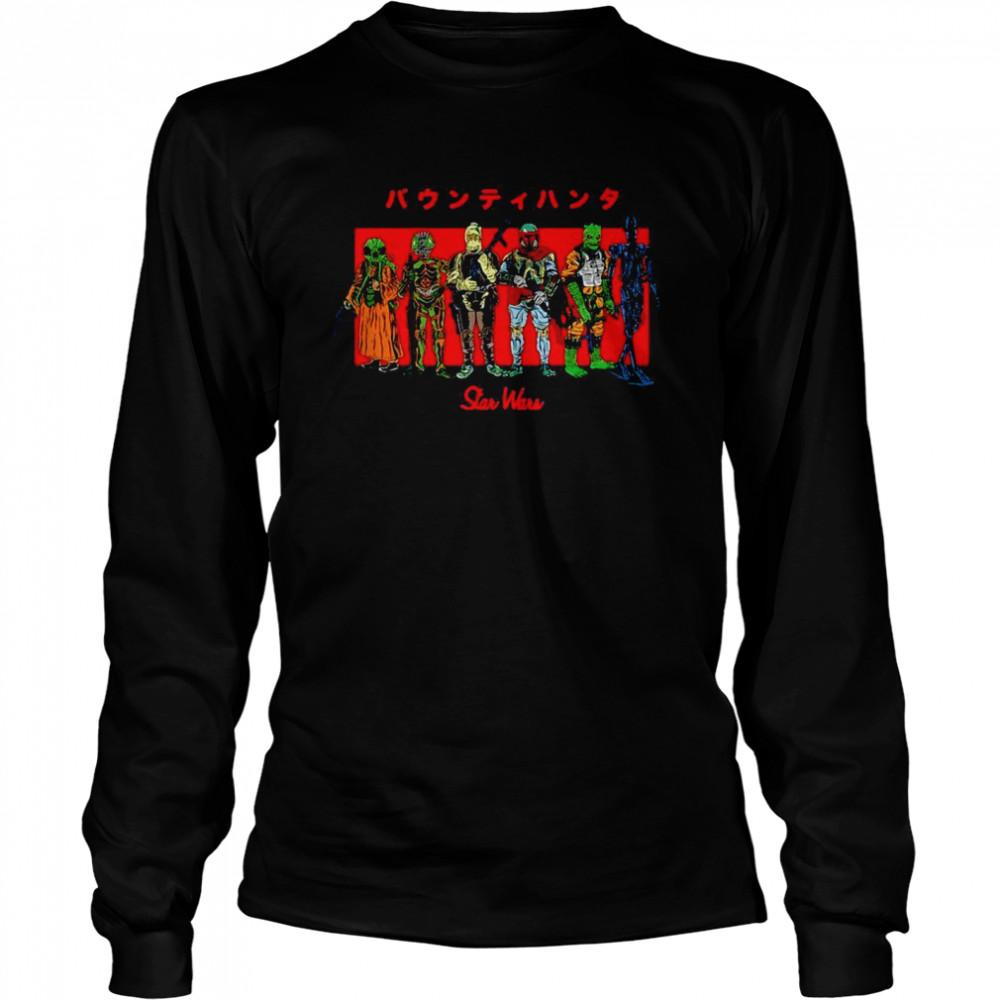 Star Wars Kanji Bounty Hunter Lineup T-shirt Long Sleeved T-shirt