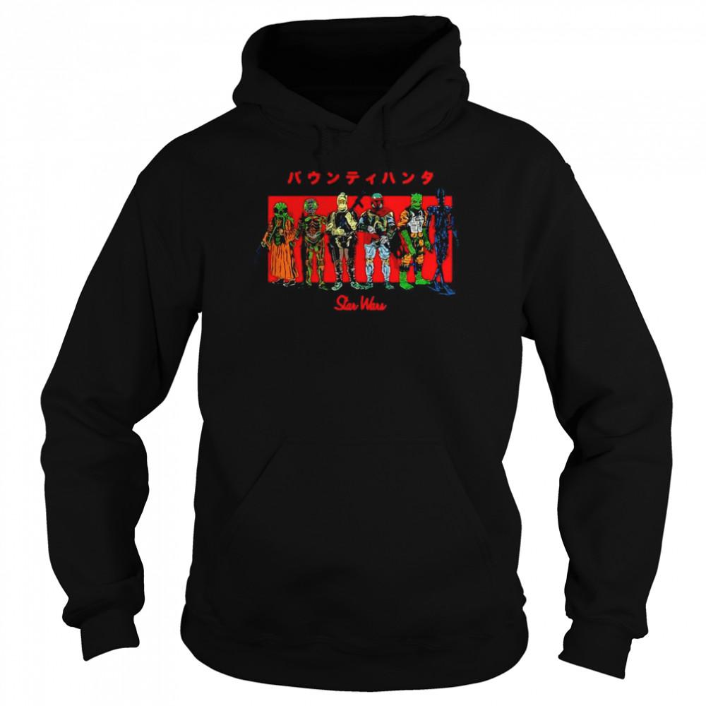 Star Wars Kanji Bounty Hunter Lineup T-shirt Unisex Hoodie