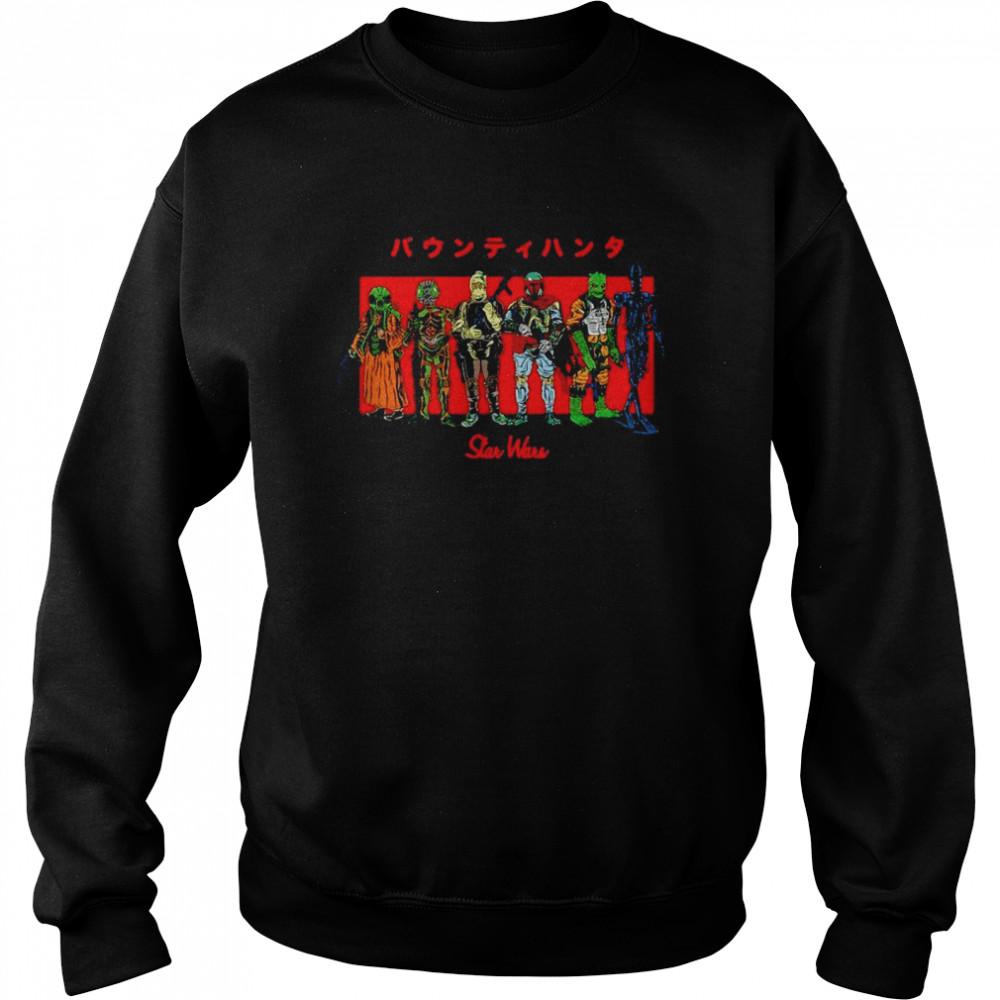 Star Wars Kanji Bounty Hunter Lineup T-shirt Unisex Sweatshirt