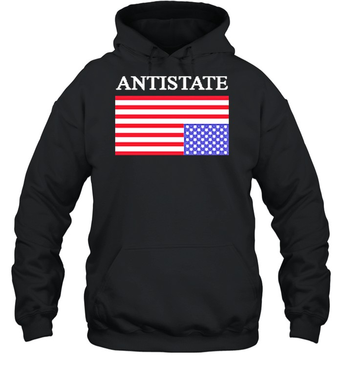 Antistate usa flag for shirt Unisex Hoodie
