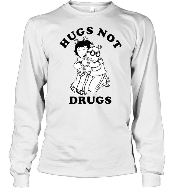 Arthur Hugs Not Drugs T-shirt Long Sleeved T-shirt