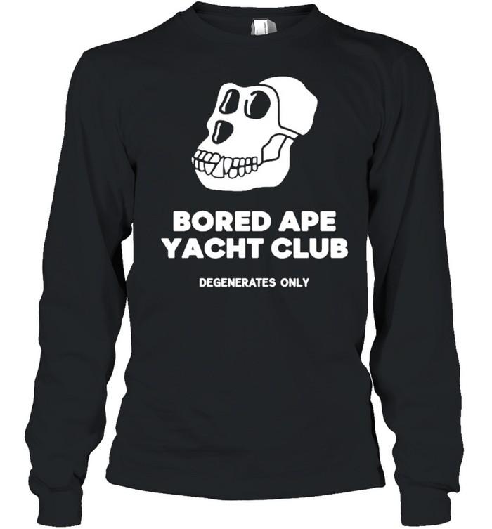 Bored ape yacht club shirt Long Sleeved T-shirt