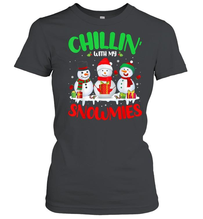 Chillin' With My Snowmies Merry Christmas Santa Snowman shirt Classic Women's T-shirt
