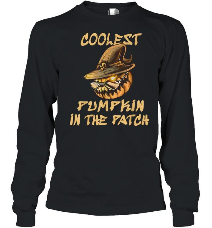 Coolest Pumpkin In The Patch Halloween shirt Long Sleeved T-shirt