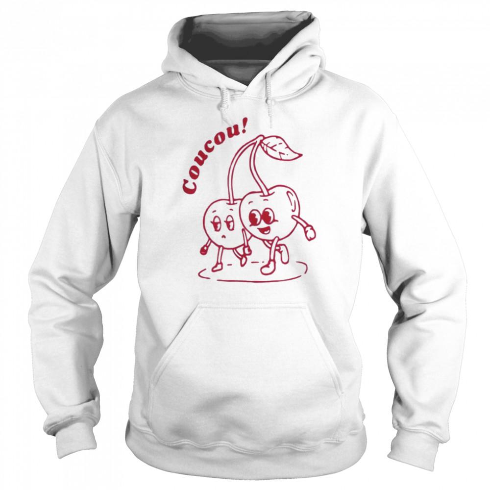 Coucou cherry fine shirt Unisex Hoodie