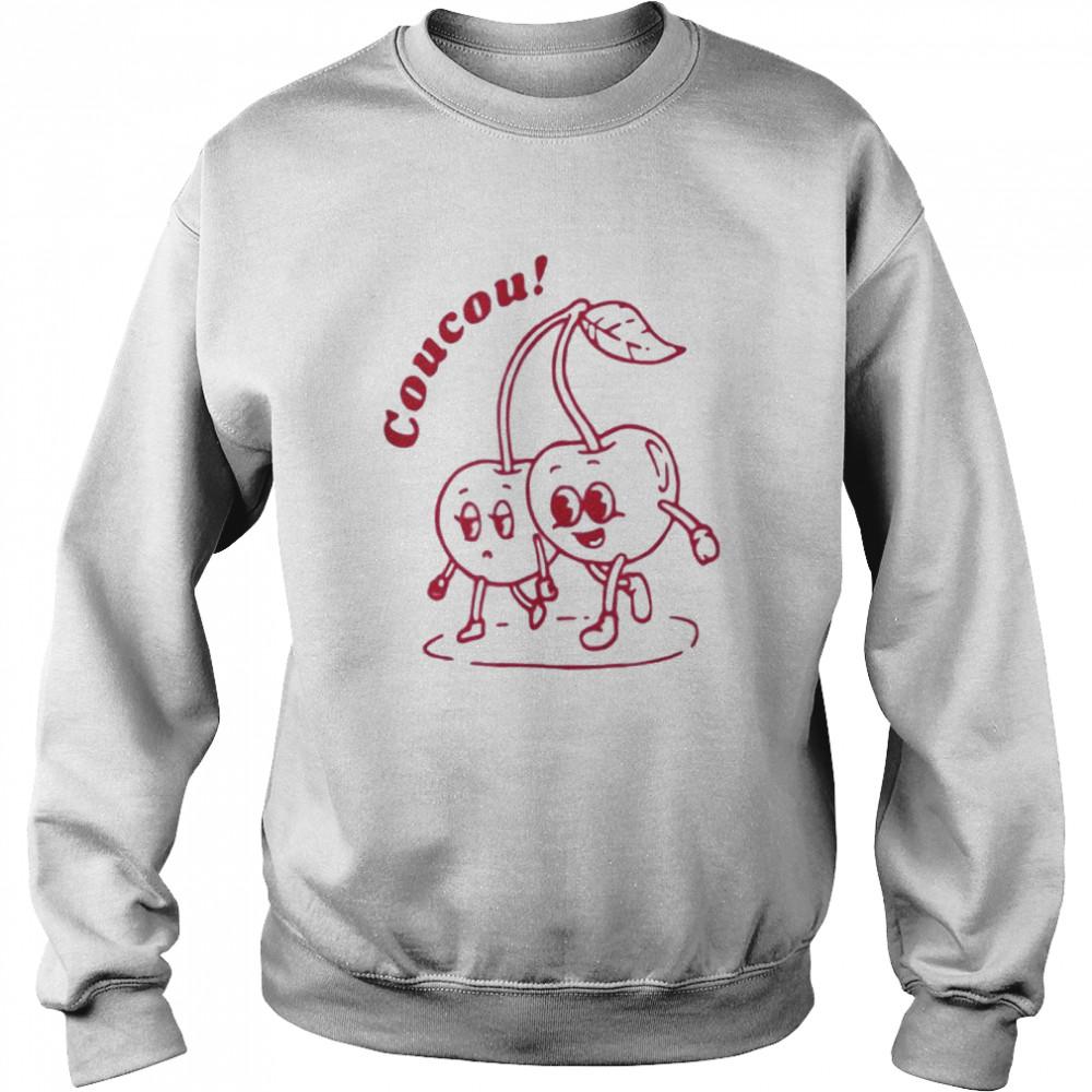 Coucou cherry fine shirt Unisex Sweatshirt