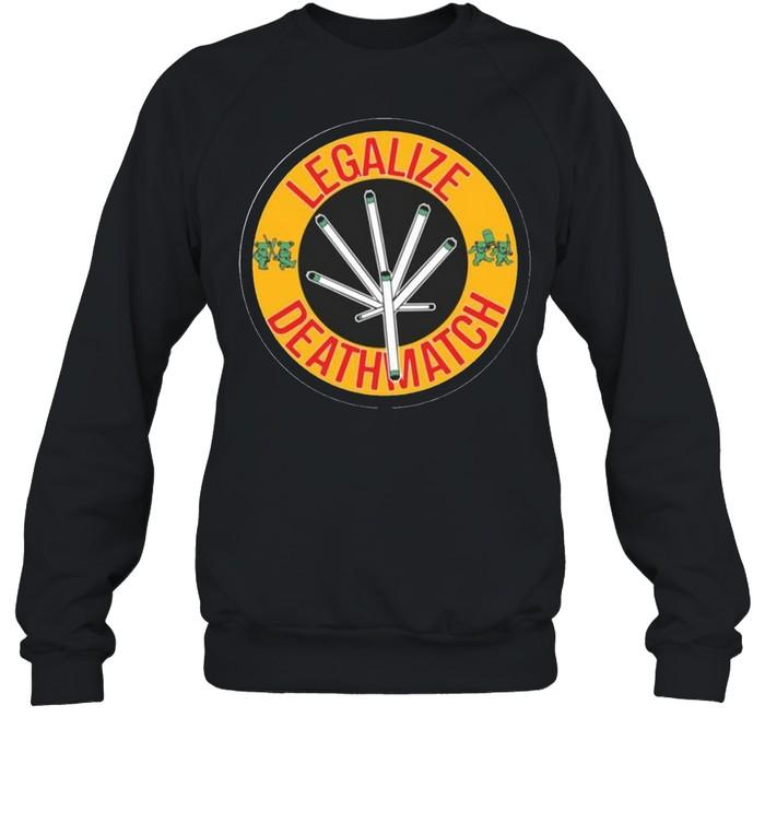 Grateful Bear Legalize Deathmatch  Unisex Sweatshirt