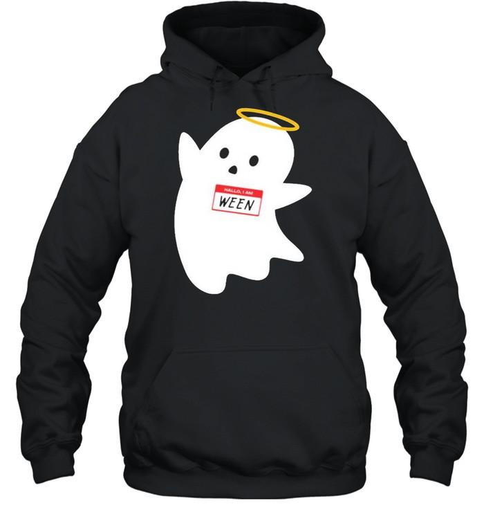 Hallo I am ween wholesomemes store hallo I am ween shirt Unisex Hoodie