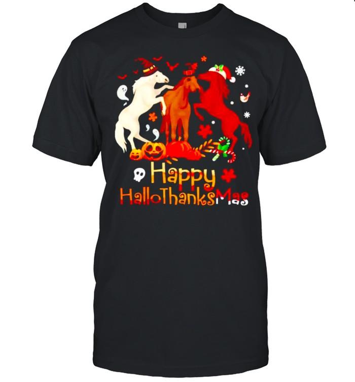 Horses Happy Hallothanksmas shirt