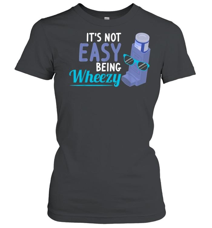Inhaler COPD Warrior Wheezy Asthma Awareness for Asthmatic shirt Classic Women's T-shirt