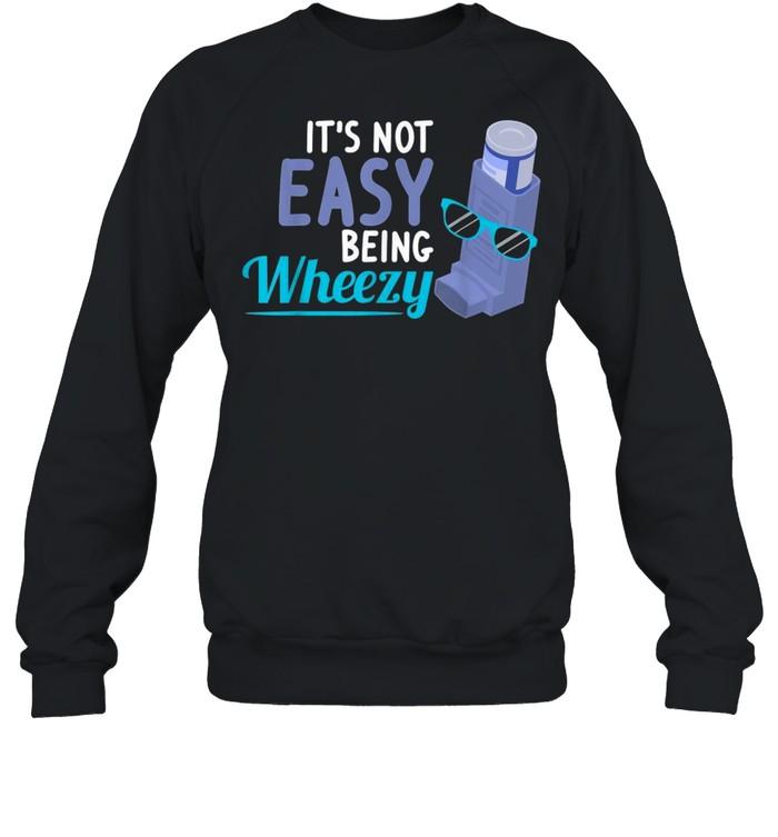 Inhaler COPD Warrior Wheezy Asthma Awareness for Asthmatic shirt Unisex Sweatshirt