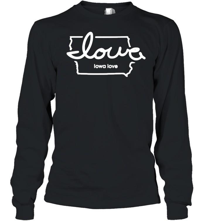 Iowa love shirt Long Sleeved T-shirt