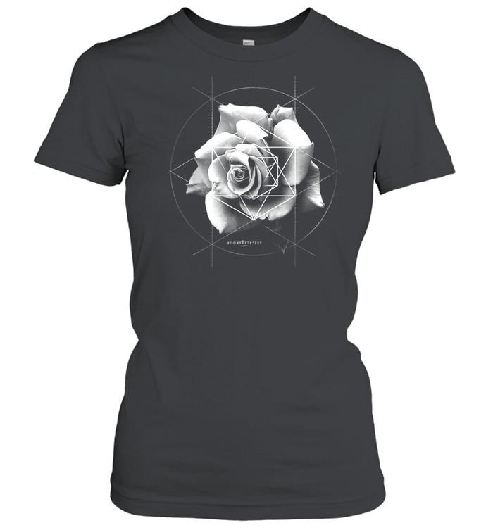 Merkaba Rose Sacred Geometric Overlay shirt Classic Women's T-shirt