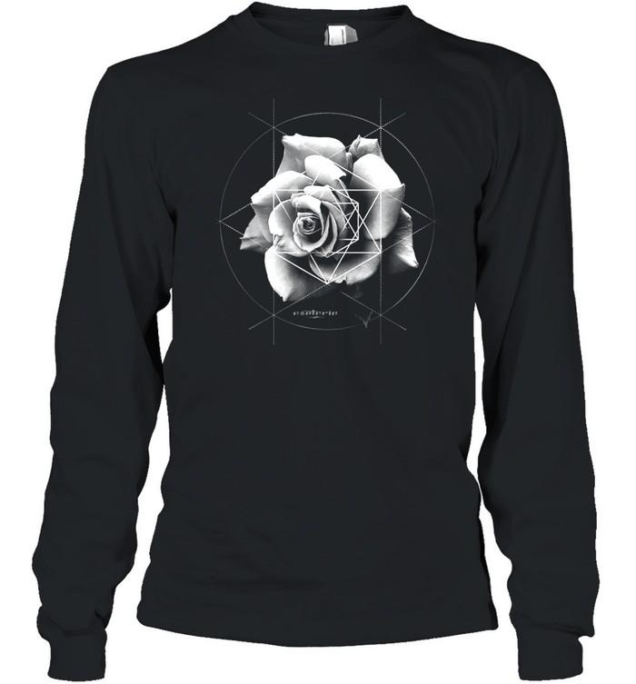 Merkaba Rose Sacred Geometric Overlay shirt Long Sleeved T-shirt