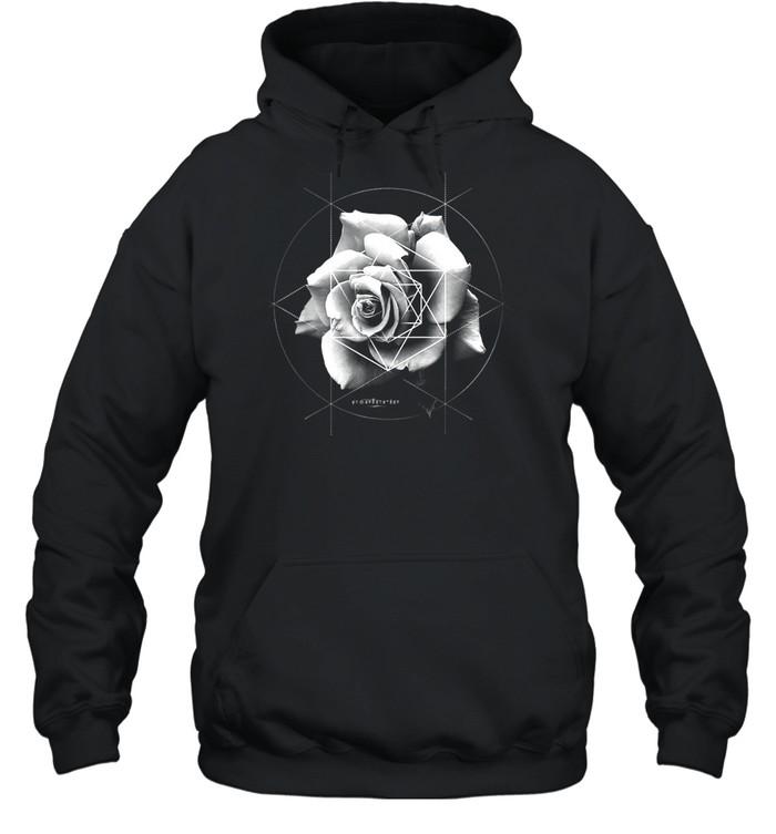 Merkaba Rose Sacred Geometric Overlay shirt Unisex Hoodie