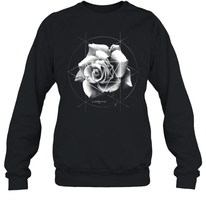 Merkaba Rose Sacred Geometric Overlay shirt Unisex Sweatshirt