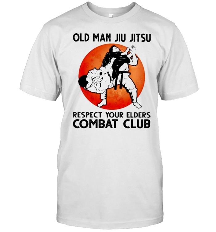 Old Man Jiu Jitsu Respect Your Elders Puck Club Blood Moon Shirt