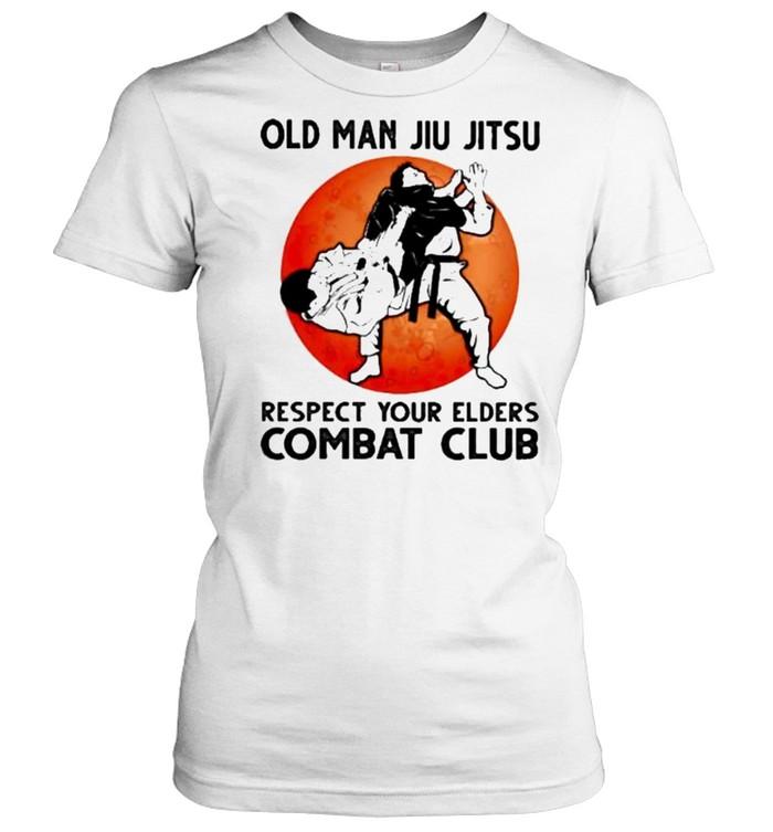 Old Man Jiu Jitsu Respect Your Elders Puck Club Blood Moon  Classic Women's T-shirt