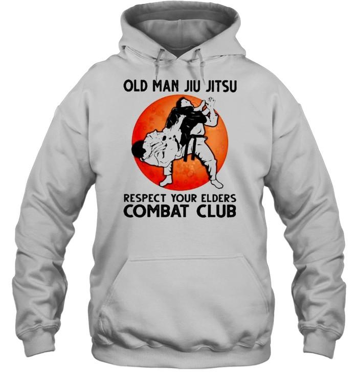Old Man Jiu Jitsu Respect Your Elders Puck Club Blood Moon  Unisex Hoodie