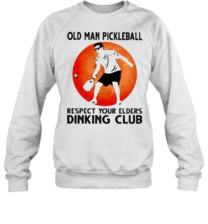 Old Man Pickleball Respect Your Elders Puck Club Blood Moon  Unisex Sweatshirt
