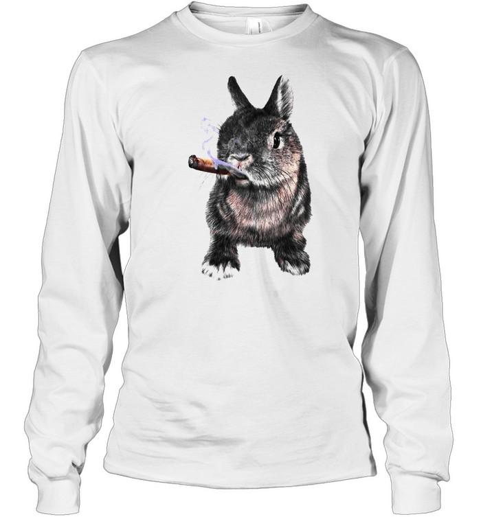 Rabbit Smoking Cigar shirt Long Sleeved T-shirt