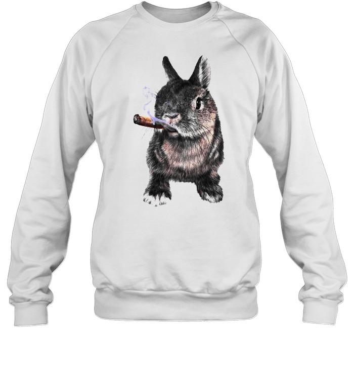 Rabbit Smoking Cigar shirt Unisex Sweatshirt