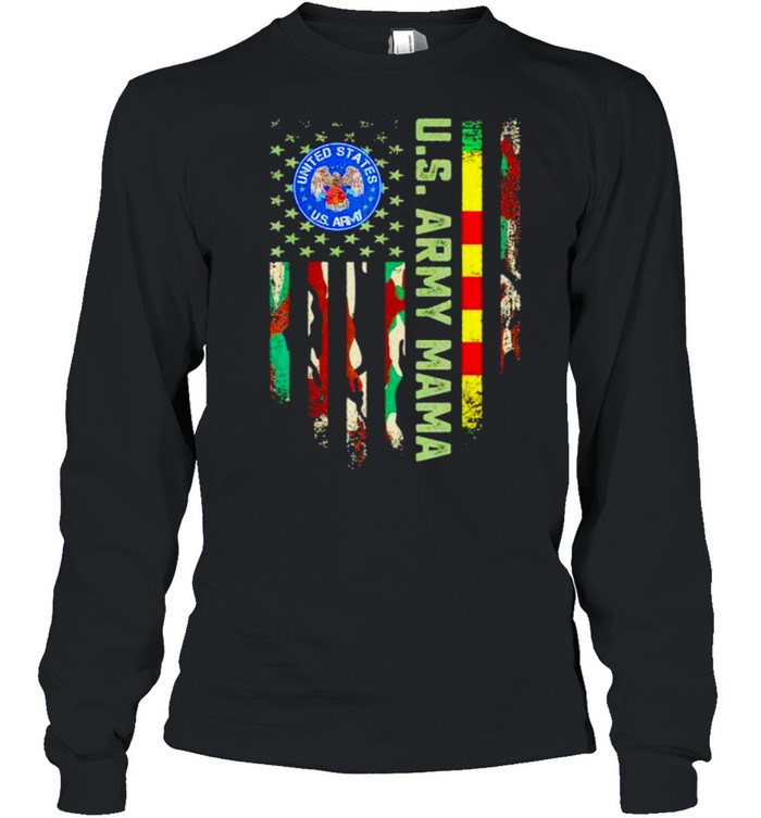 US army vietnam veteran mama shirt Long Sleeved T-shirt