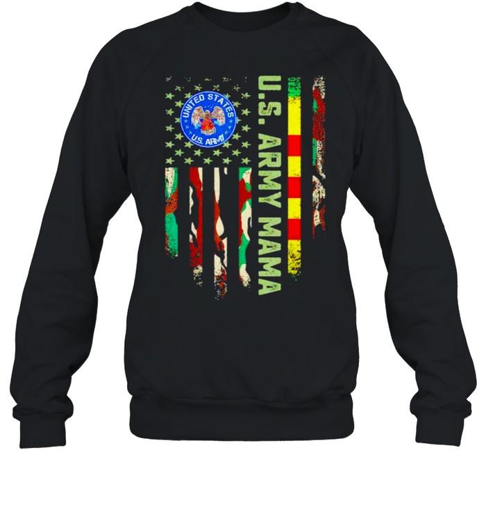US army vietnam veteran mama shirt Unisex Sweatshirt