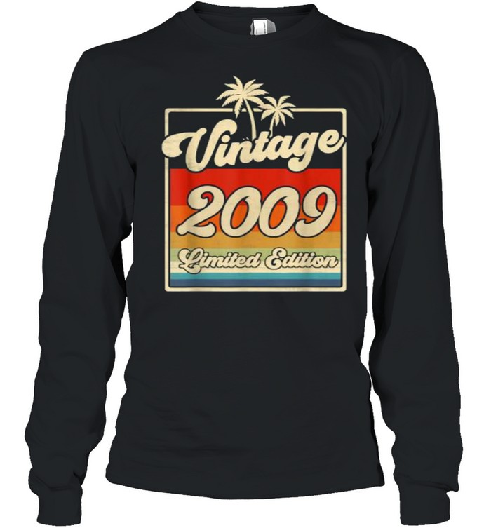 Vintage 2009 12th Birthday  Limited Edition 12 Year Old T- Long Sleeved T-shirt
