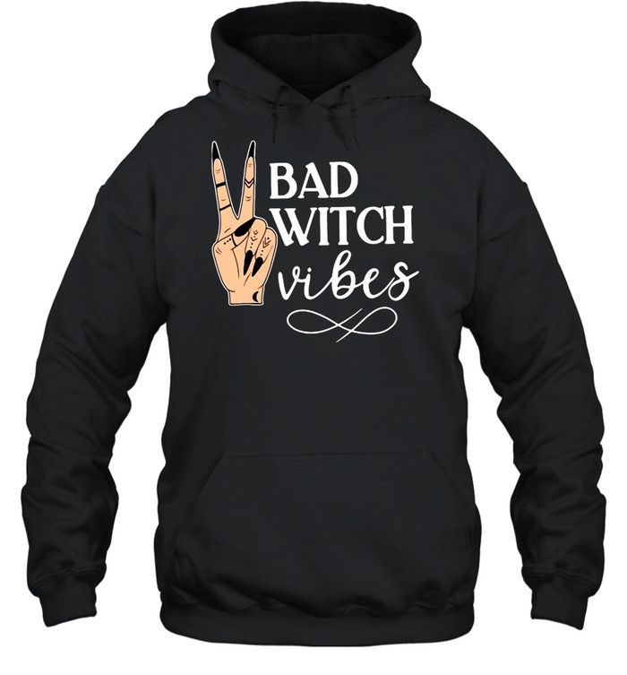Witch Apparel Bad Witch Vibes Witch Hand Halloween T-shirt Unisex Hoodie