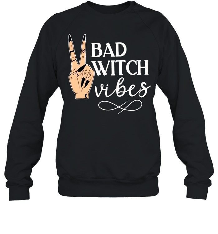 Witch Apparel Bad Witch Vibes Witch Hand Halloween T-shirt Unisex Sweatshirt