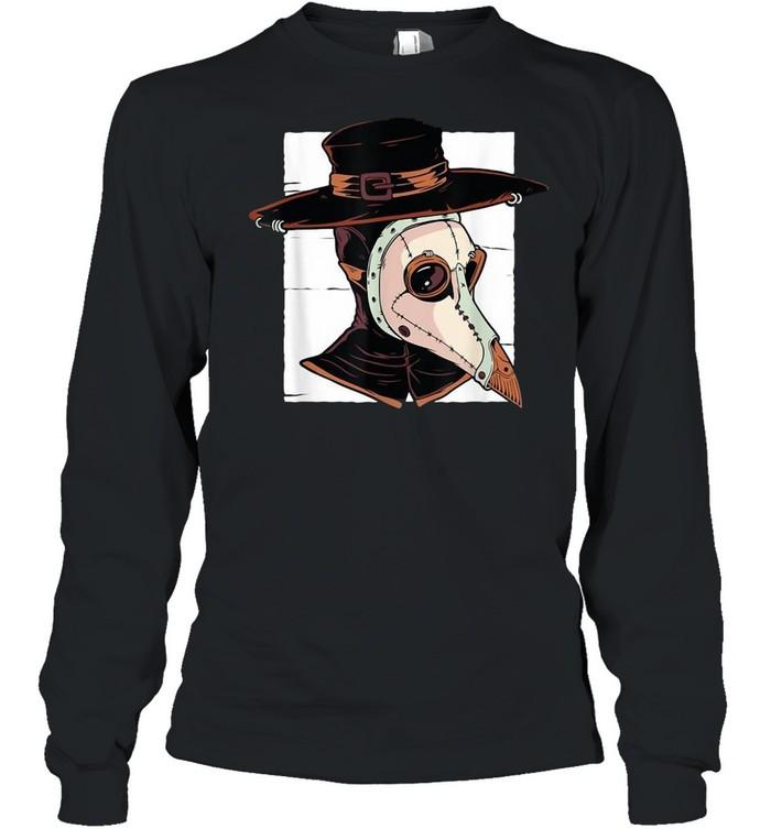Tarot Occult Plague Doctor Horror Pest Vintage T-shirt Long Sleeved T-shirt