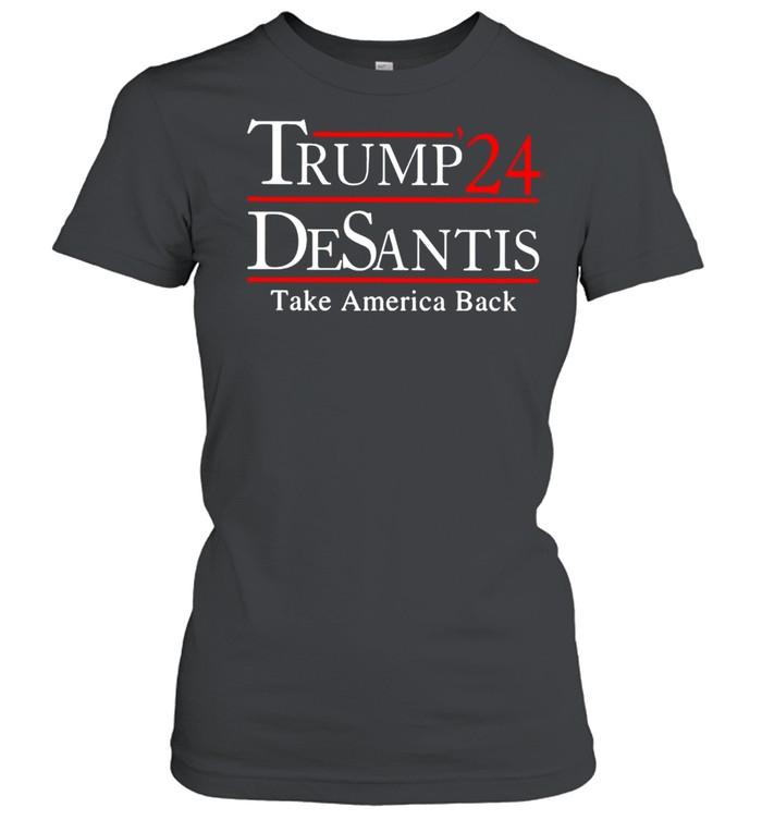 Trump 24 Desantis take America back t-shirt Classic Women's T-shirt