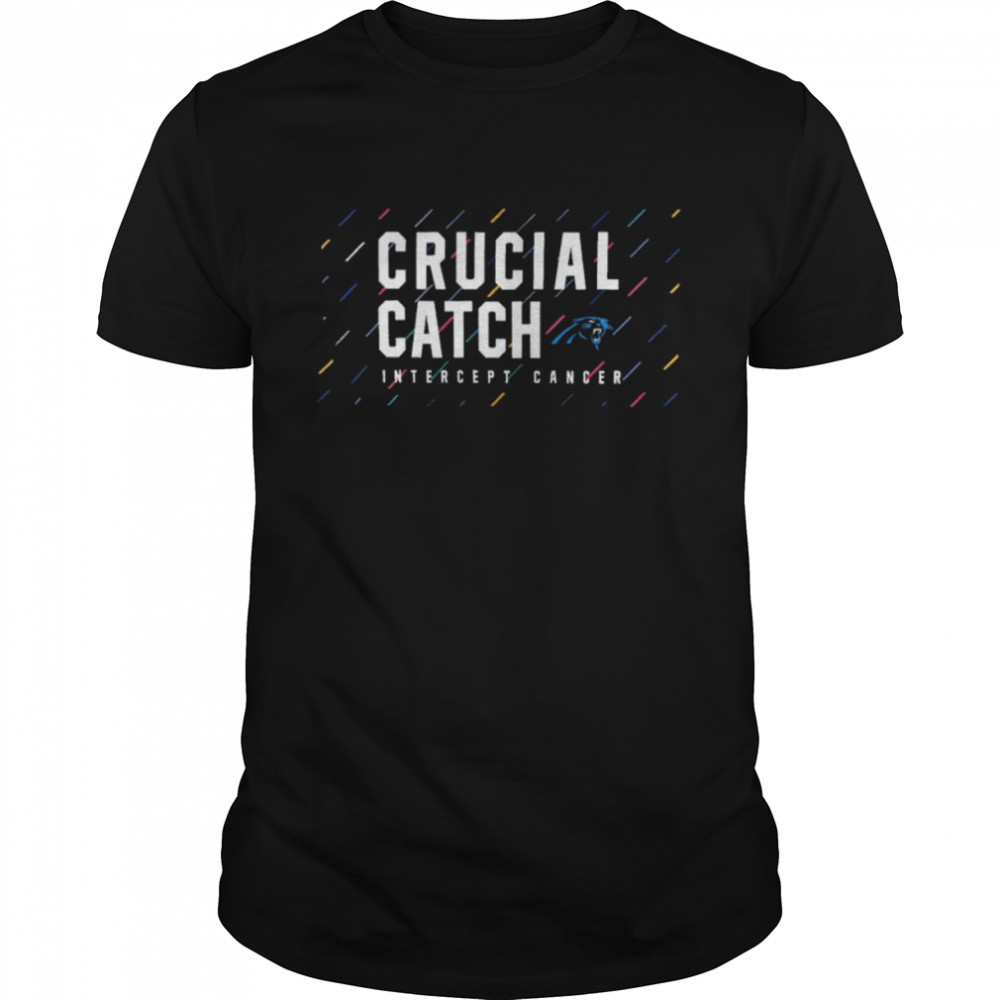 Carolina Panthers 2021 crucial catch intercept cancer shirt