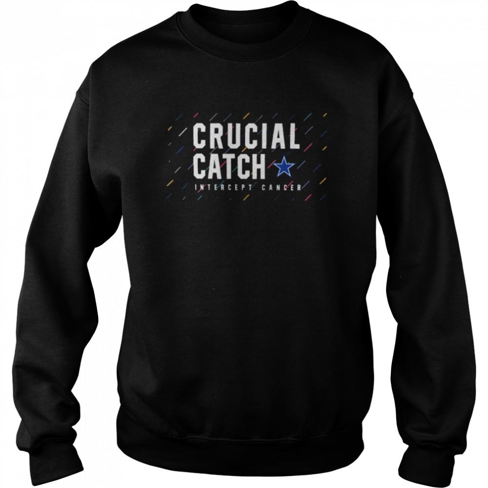 Dallas Cowboys 2021 crucial catch intercept cancer shirt Unisex Sweatshirt