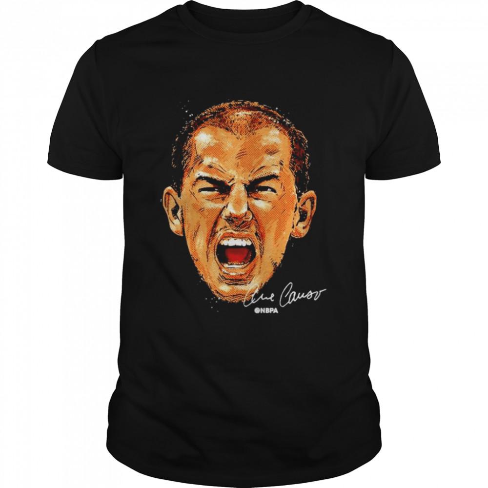 Alex Caruso Chicago Basketball face signature shirt