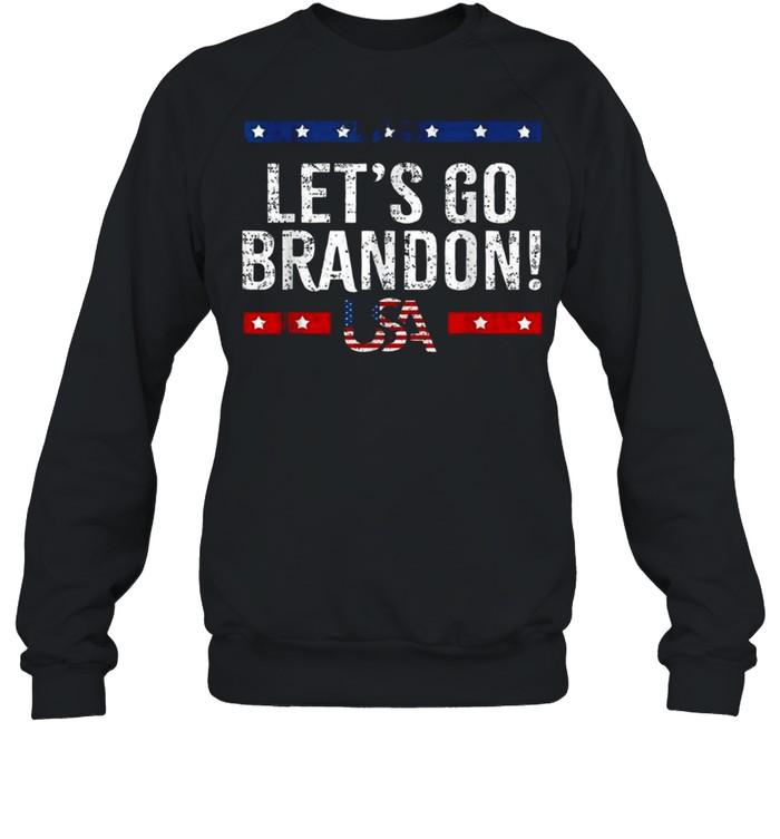 Let's Go Brandon American Flag Impeach Biden 2021 T- Unisex Sweatshirt