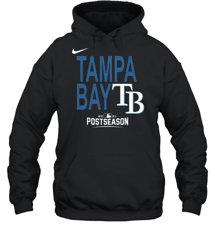 Men'S Tampa Bay Rays Nike Navy 2021 Postseason Authentic Collection Dugout T- Unisex Hoodie